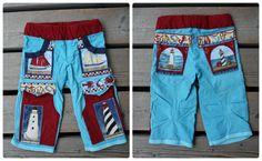 Leuchtturmhose mit Taschen- und Fuß-Bündchen aus Papas Poloshirt