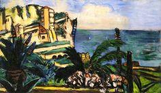 Riviera Landscape with Rocks Max Beckmann - 1942
