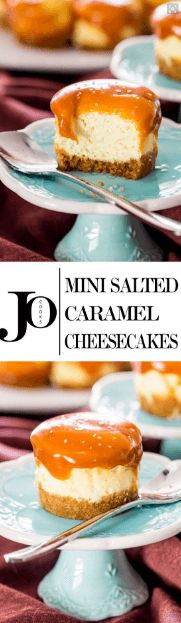 cool Mini Salted Caramel Cheesecakes