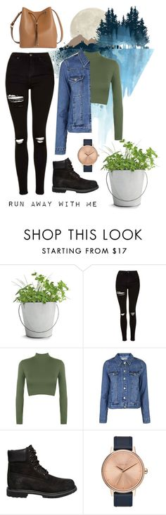 """""""Nature - Contest"""" by gracesteer ❤ liked on Polyvore featuring Potting Shed Creations, WALL, Topshop, WearAll, Timberland, Nixon and Lodis"""