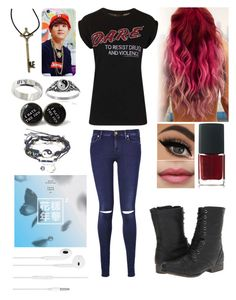 """""""Untitled #92"""" by delzisnotonfire ❤ liked on Polyvore featuring 7 For All Mankind, Topshop, NARS Cosmetics, Madden Girl, LØMO and Journee Collection"""