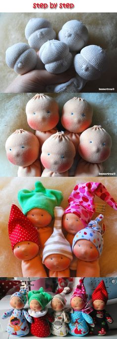 There are no instructions here, but these are the cutest -- inspiration!