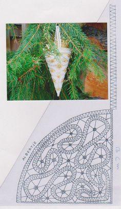 NAVIDAD Bobbin Lace Patterns, Embroidery Patterns, Irish Crochet, Diy Crochet, Bobbin Lacemaking, Point Lace, Tatting Lace, Needle Lace, Lace Making