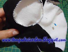 T E M P O D E V I V E R B E M: PINGUIM EM TECIDO / FELTRO Penguin, Hand Stitching, Tejidos, Felting