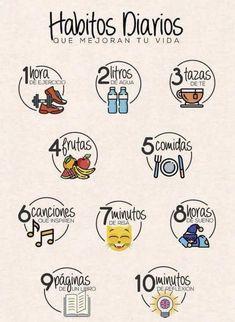 :) - Para empezar cada día mejorando el estilo de vida…:] Imágenes efectivas que le proporcionamos so - Good Habits, Healthy Habits, Healthy Tips, Autogenic Training, Life Motivation, Better Life, Self Improvement, Life Hacks, Life Tips