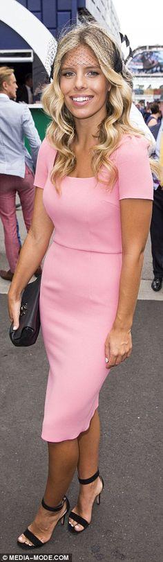 Natasha Oakley at Melbourne Cup 2014