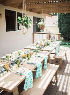 La Tavola Fine Linen Rental: Mabel Emerald Napkins | Photography: Brooke Borough, Event Planning & Florals: Festive Event Planning, Tabletop Rentals: Otis & Pearl, Furniture Rentals: Party Pleasers
