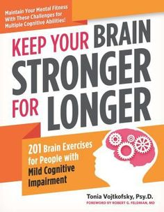 Keep your brain active, even with MCI. For adults with Mild Cognitive Impairment, brain exercises are the best way to stay sharp and delay the onset of dementia. That's why cognitive specialist Dr. Tonia Vojtkofsky tailored this fun workbook specifically for people with MCI. It's the first of its kind!