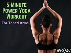 Ready to tone up your arms? This great power yoga workout will help improve arm strength and help you tone up!