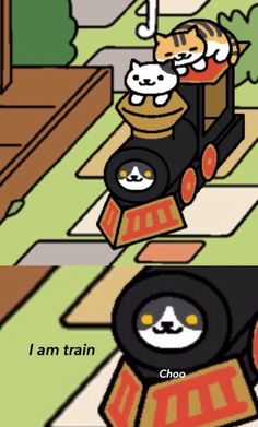 Too cute :3 Neko Atsume