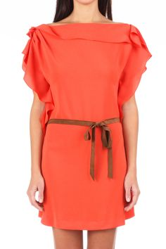 PureShopping - Robe corail LEENOY #Dress #Corail