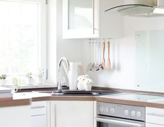 My nice, white, scandinavian kitchen.