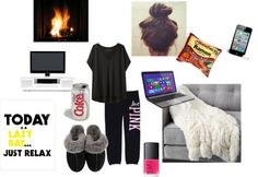 """Winter lazy day essentials"" by classyinpink on Polyvore"