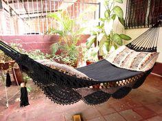 black indoor hammock