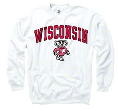 Wisconsin Badgers White Perennial II Crewneck Sweatshirt $29.99 http://www.fansedge.com/Wisconsin-Badgers-White-Perennial-II-Crewneck-Sweatshirt-_-1040398206_PD.html?social=pinterest_pfid52-20987