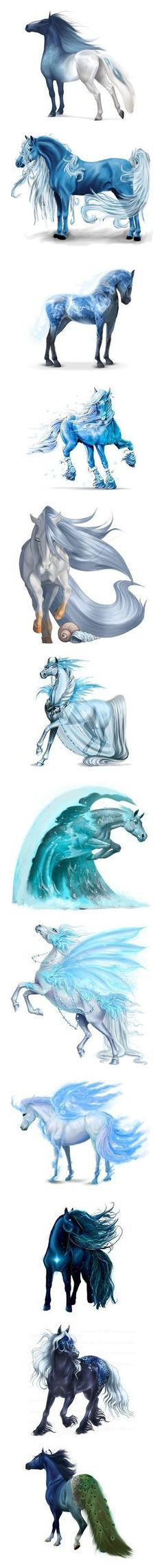 """""""Fantasy Horses"""" by nikki-kersey ❤ liked on Polyvore featuring animals, horse, howrse, pets, home, home decor, horse home decor, wall art, horse wall art and fantasy"""