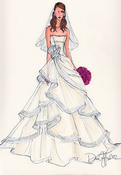 Wedding Illustrations #DebiGriffin Illustrative Moments
