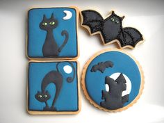 DARK NIGHT HALLOWEEN COOKIES