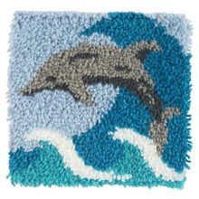 Dolphin Latch hook rug