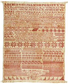 Sampler by Mary Ann Tipper, Bristol Orphan House, 1868