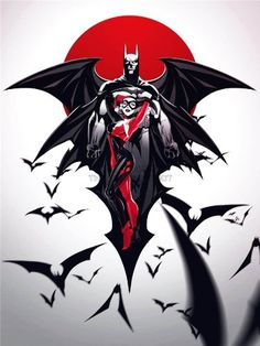 COMIC BOOK CHARACTERS HARLEY QUINN BATMAN BATS 18X24'' POSTER ART PRINT LV10020