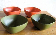 Cathrine Holm Enamel Bowls-Set of 4 by MarketHome on Etsy, $48.00