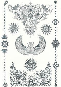 Metallic Tattoo Silver Tattoowhite & gold egyptian by wowlalalaa