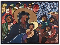The Nativity, 1996 by Laura James Prints and Posters at The Abstract Gallery Belfast Laura James, The Birth Of Christ, African Diaspora, Sacred Art, Photo Canvas, Religious Art, African Art, Christian, Madonna