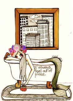 Mermaid illustration by Ilse Valfre