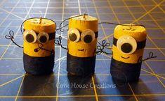 cork minions ornaments