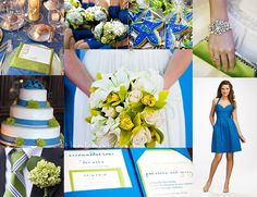 Blue and Lime Green Wedding