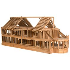 """""""Under Construction"""", Model of Timber Framed House 