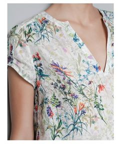 Vintage print floral blusa de manga curta v Chiffion pescoço OL camisa casual tops magro marca de design elegante ST254 Novos ' mulheres em Blusas de Roupas & acessórios no AliExpress.com | Alibaba Group