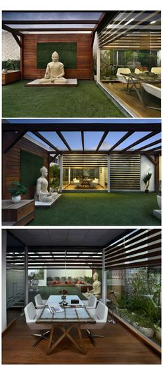 Rooftop Terrace Design, Terrace Garden Design, Rooftop Garden, Balcony Design, Terrace Ideas, Garden Ideas, Terraced Landscaping, Terraced Backyard, Architecture Courtyard