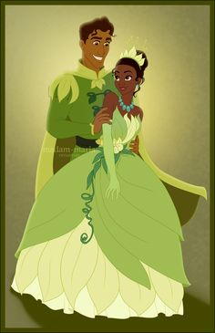 Tiana and Naveen by *madam-marla on deviantART