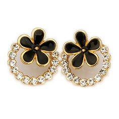 Lefinis 18K yellow Gold Plated Crystal flower Stud Earrings Fashion Party Jewelry LEFINIS http://www.amazon.com/dp/B00LEGBC1U/ref=cm_sw_r_pi_dp_JLe2tb1S3G02MJEQ