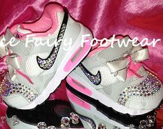 Bling Bling Baby Stuff | BLING Baby Nike Air Max Trainers Si ze 3 with Beautiful Crystal ...
