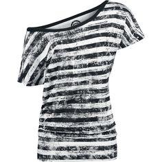 Striped Ladies Shirt - T-Shirt Manches courtes par R.E.D. by EMP