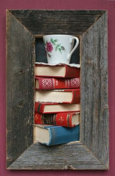 framed books on the wall by framedbooks on Etsy Old Books, Recycling, Mugs, Unique Jewelry, Tableware, Handmade Gifts, Frame, Wall, Vintage