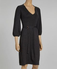 Take a look at this Anthracite Gray Sweater Dress by DEPT on #zulily today!