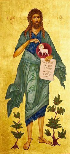 John the Baptist Religious Images, Religious Icons, Religious Art, Holy Art, Greek Icons, Saint Jean Baptiste, Religion, Religious Paintings, John The Baptist