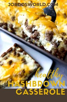 Say good morning to the healthy cheesy hashbrown casserole recipe that is so easy you could accidentally make it! Hashbrown Casserole Recipe, Hash Brown Casserole, Breakfast Casserole, Casserole Recipes, High Protein Recipes, Healthy Breakfast Recipes, Brunch Recipes, Easy Oven Recipes, Frozen Hashbrowns