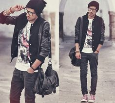 Hipster #outfit#boys #guys #men#black