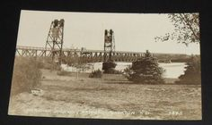 RPPC-Yankton-Meridian-Highway-Bridge-Vintage-South-Dakota-Postcard