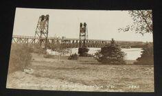 RPPC-Yankton-Meridian-Highway-Bridge-Vintage-South-Dakota-Postcard