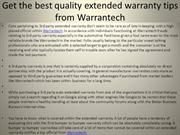 Extended warranty is a must have for many a high end products that need frequent repairs or replacement of parts like automobiles. Getting extended warranty is just like getting an insurance plan for your product.For more information about Warrantech free vist here http://www.warrantech.com