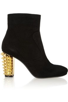 Fendi Studded suede ankle boots on sale for $237.50 (regularly $475)