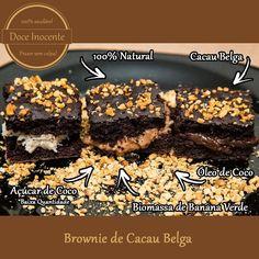 Brownie recheado maravilhoso sem lactose e sem glúten. Feito com biomassa de banana verde cacau belga óleo de coco e açúcar de coco ou demerara ou xilitol.  100% natural.  Prazer sem culpa!  #doceinocente #docefit #ra #whey #cacaubelga #esmagaquecresce #13memo #vemmonstro #semacucar #semgluten #semlactose #essepode #dieta #lowcarb #foconadieta #30tododia #amendoim #biomassadebananaverde #reeducacaoalimentar #festainfantil by doceinocente