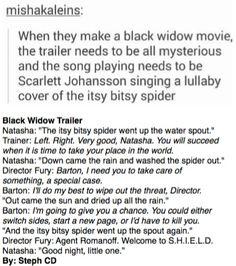 Black Widow Trailer Idea
