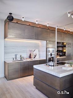 Kitchen at Penthouse View 360° | designed by studio a.s.h. Kitchen Decor, Kitchen Design, 360 Design, Window View, Apartment Kitchen, Family Room, Windows, Mirror, Studio